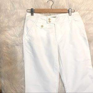 🌸 SALE Banana Republic White Capris
